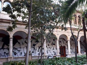 Imagen del grafiti de mil metros cuadrados en el Centro del Carmen de Valencia