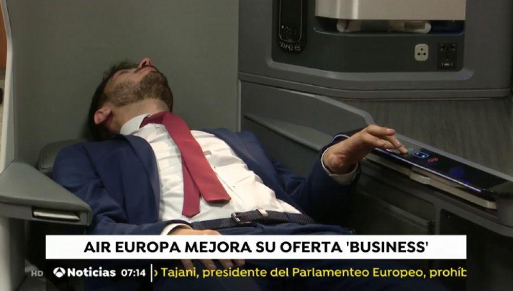 Air Europa estrenará en septiembre aviones con 32 plazas que se convierten en camas