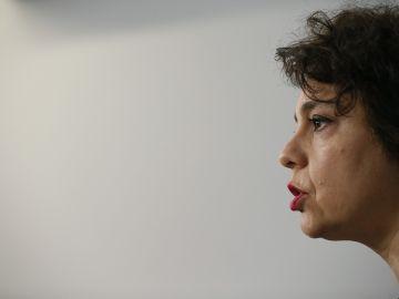 La secretaria de Acción Institucional de Podemos , Gloria Elizo