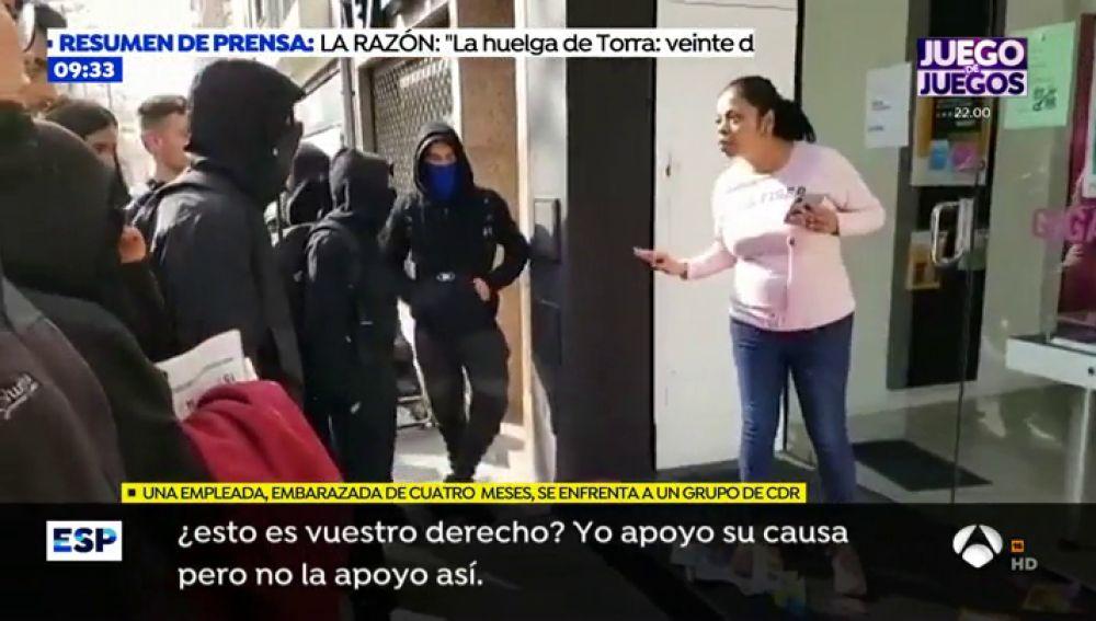 ESPEJO ACOSO HUELGA BARCELONA