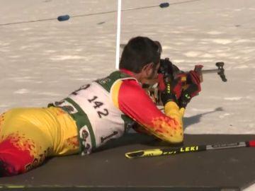 """Así es el campeonato militar nacional de esquí: """"El biatlón es bonito y difícil"""""""