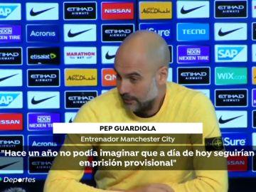 """Guardiola, sobre los acusados en el juicio del 'procés': """"Han sido acusados de delitos que no hicieron"""""""
