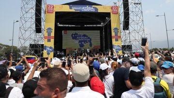 Imagen del concierto 'Venezuela Aid Live'