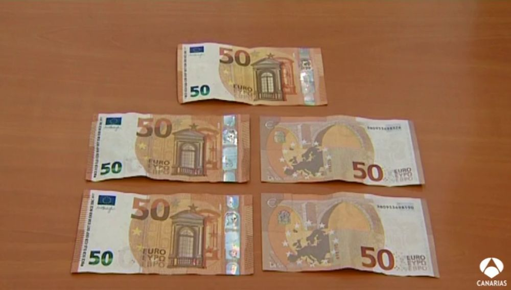 Localizan varios billetes falsos de 50 euros en Vecindario