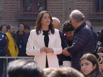 Inés Arrimadas, en un mitin en Madrid
