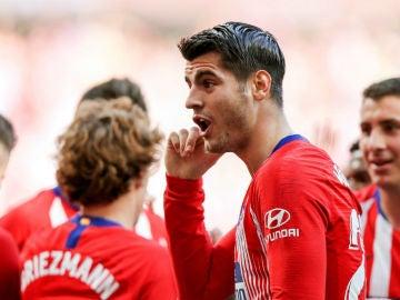 Morata le 'dedica' su gol al VAR