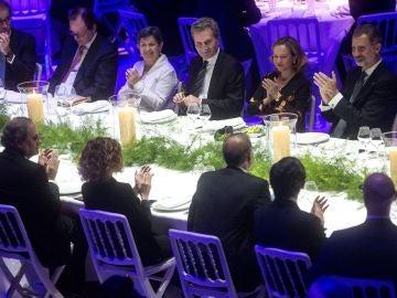 El Rey y Torra en la cena del MWC