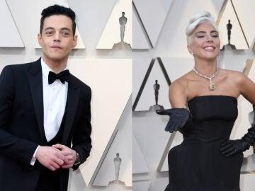 Rami Malek y Lady Gaga en los Oscar 2019