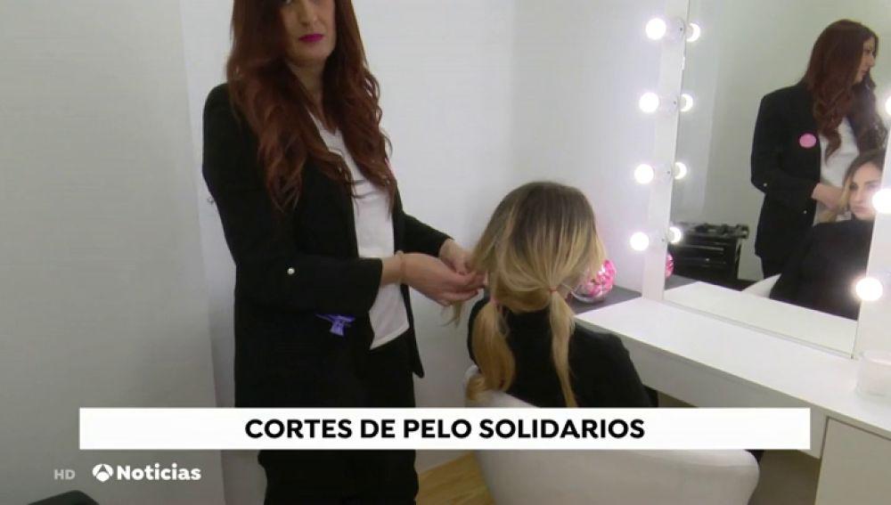 Donaciones de pelo solidario para enfermas de cáncer.
