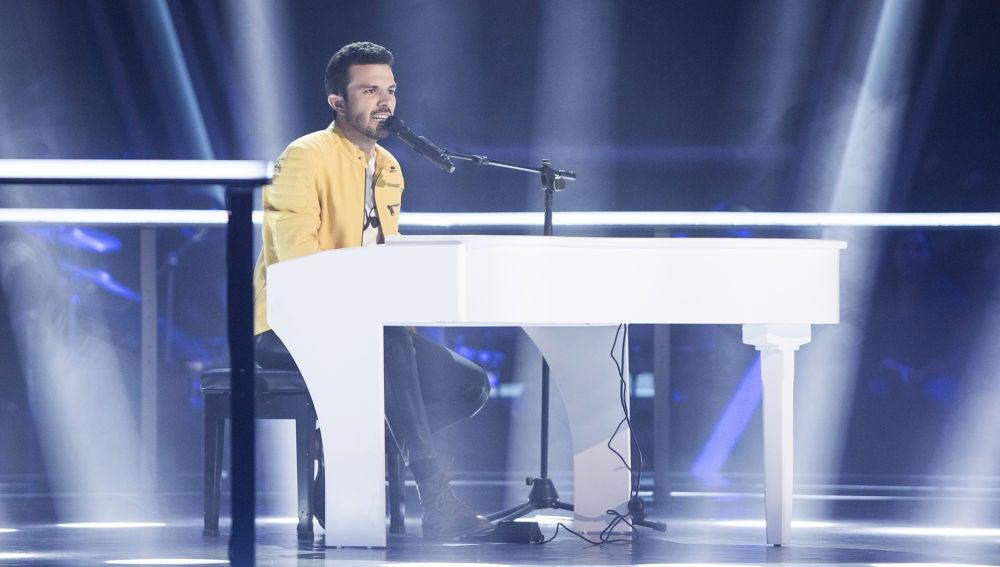Sergio Jiménez canta 'Vi' en los Asaltos de 'La Voz'
