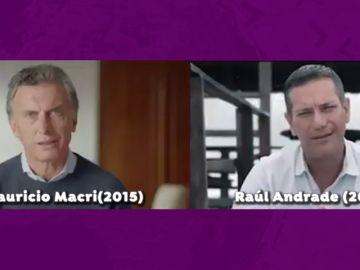 Un político ecuatoriano plagia un anuncio publicitario de Macri