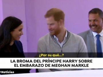 El príncipe Harry bromea sobre el embarazo de Megan