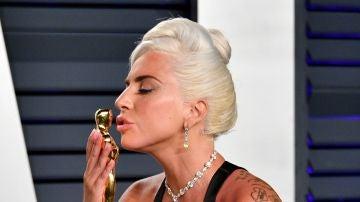 Lady Gaga tras ganar su Oscar por 'Ha nacido una estella'