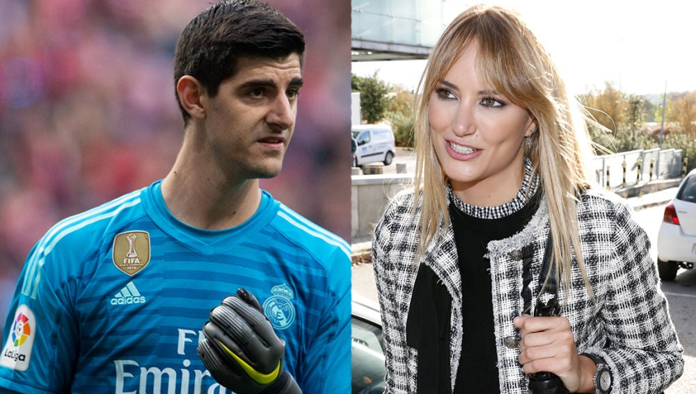 Alba Carrillo y Thibaut Courtois