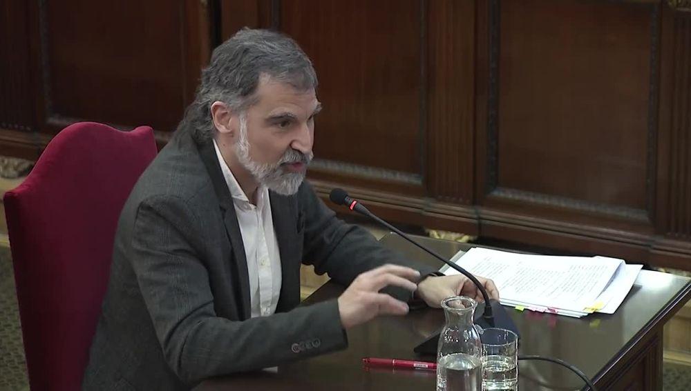 El líder de Òmnium Cultural, Jordi Cuixart, declara en el juicio del 'procés'