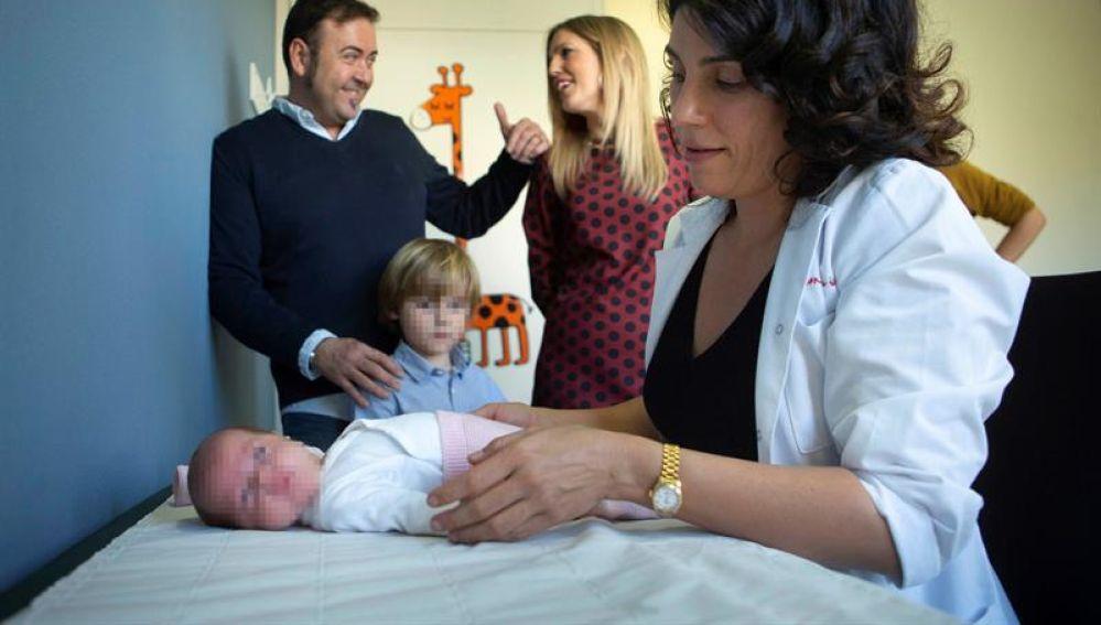 La bebé prematura