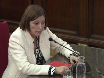 """Forcadell: la resolución del 27O fue """"una declaración política sin consecuencias jurídicas"""""""