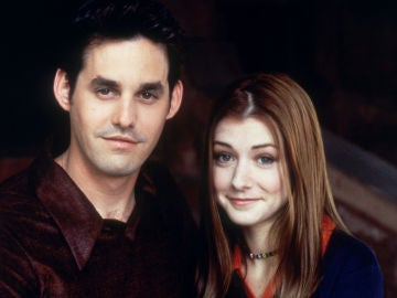 Nicholas Brendon y Alyson Hannigan en 'Buffy cazavampiros'