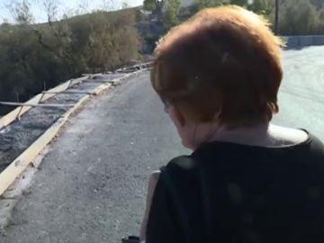 Una carretera nueva pero peligrosa para caminar