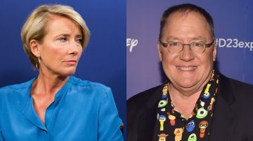 Emma Thompson y John Lasseter
