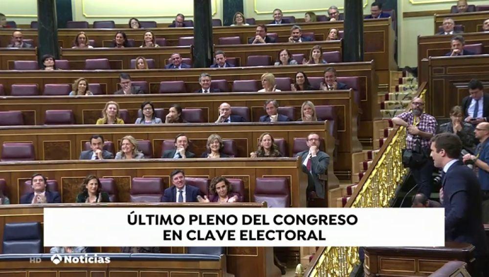 El rifirrafe entre Sánchez y Casado en el último pleno del Congreso antes de las elecciones generales del 28 de abril