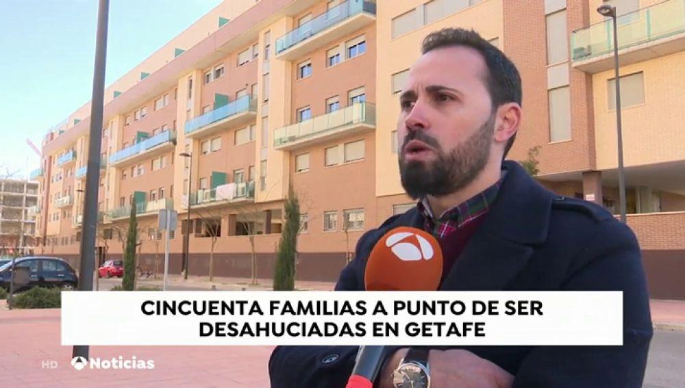 """Una de las familias afectadas por un desahucio en Getafe: """"Ya he sufrido un desahucio y ahora subastan mi vivienda"""""""