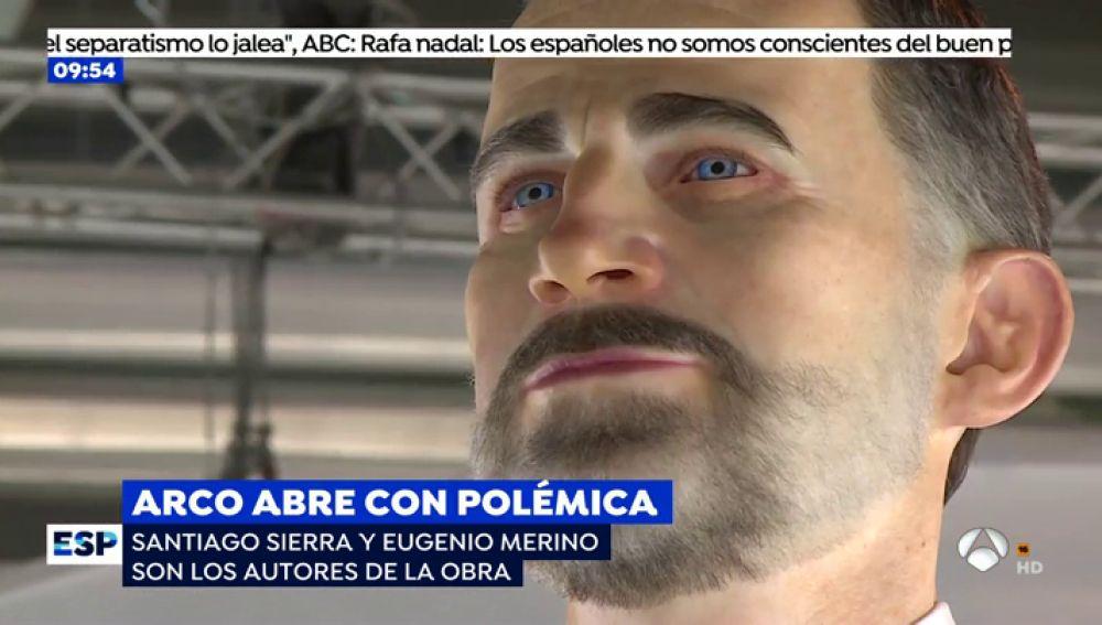 El polémico 'ninot' del Rey Felipe VI.