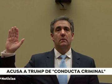 """Las duras declaraciones del ex-abogado de Dondald Trump ante el Congreso: """"Es un racista, tramposo y estafador"""""""