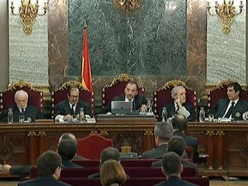 Imagen del jurado del Tribunal Supremo durante el juicio del procés