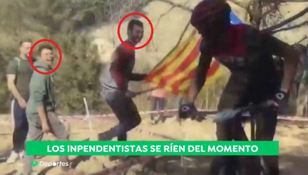 Los independentistas se ríen del momento