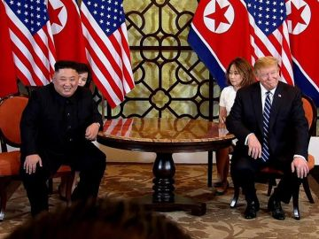 El líder norcoreano, Kim Jong-un y el presidente estadounidense, Donald Trump