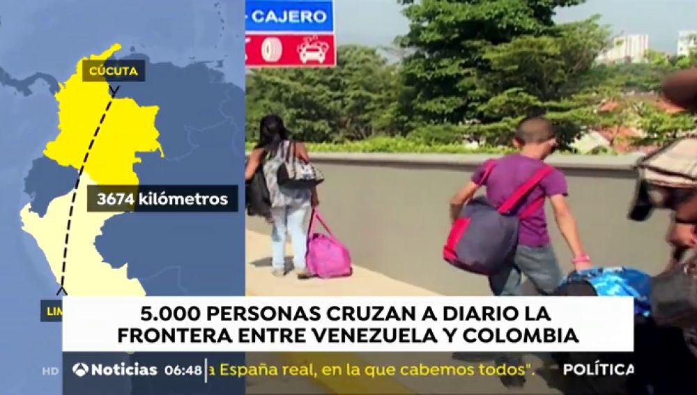 Cientos de venezolanos, atrapados en Cucutá por el cierre de fronteras