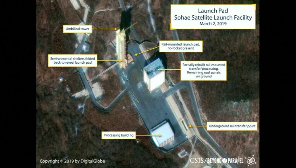 Imágenes aéreas detectan actividad en la base de misiles norcoreana de Sohae que se creía desmantelada