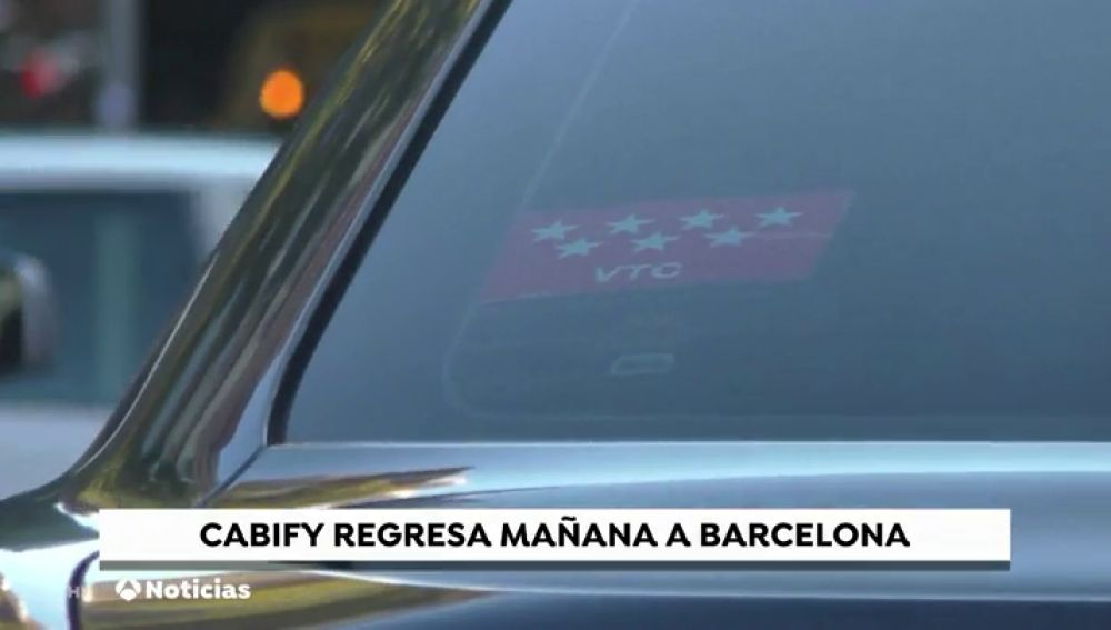 Cabify volverá a operar en Barcelona este jueves
