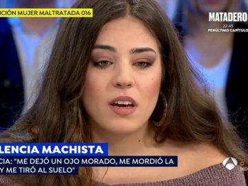 Patricia, víctima de violencia de género a los 16 años