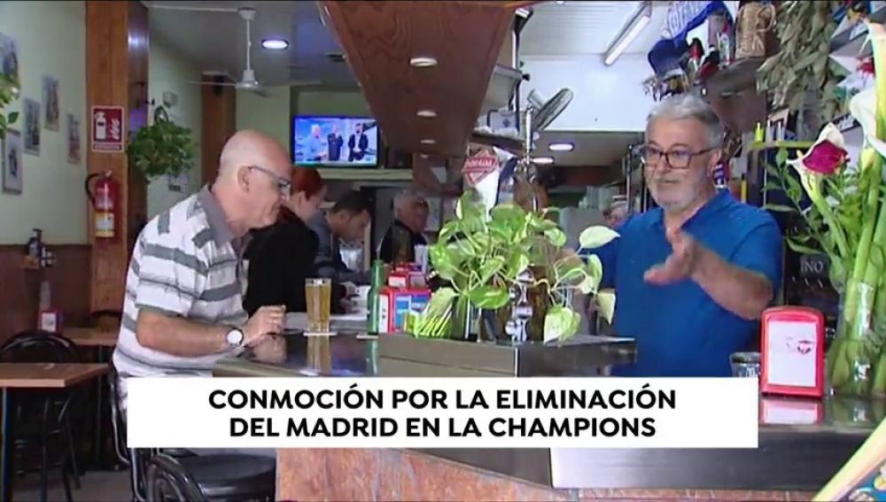 Conmoción por la eliminación del Madrid en la Champions