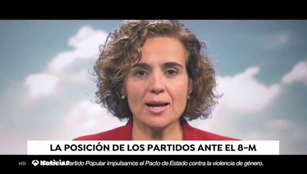 POSICION PARTIDOS ANTE EL 8M