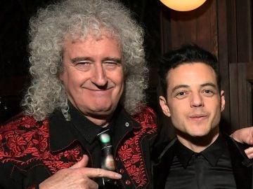 Brian May y Rami Malek