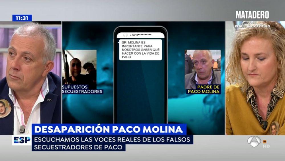 La desesperación de los padres de Paco Molina.