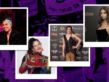 Los importantes gestos de las famosas a favor del feminismo