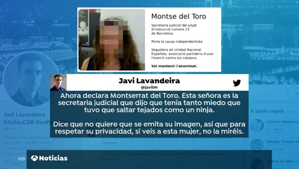 Investigan las amenzas a la secretaria judicial que declaró en el procés