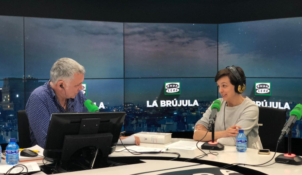Cristina Villanueva y Juan Ramón Lucas en La brújula
