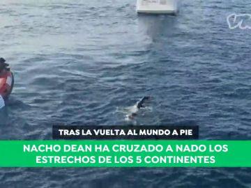 """Nacho Dean cruza a nado los estrechos que unen los cinco continentes: """"Tenía una deuda pendiente con los océanos"""""""
