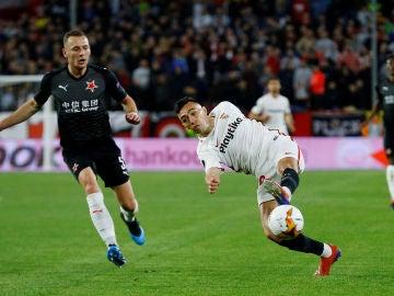 Munir remata ante el Slavia
