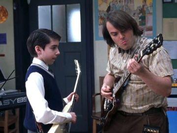 Joey Gaydos Jr. y Jack Black en 'School of Rock'