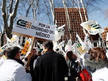 Imagen de archivo de una manifestación convocada por el colectivo médico en Madrid