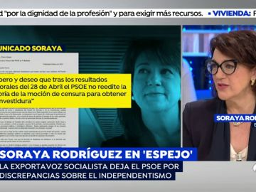 Soraya Rodríguez en 'Espejo Público'