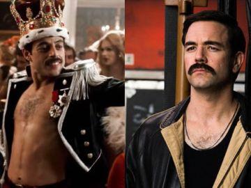 Rami Malek y Aaron McCusker en 'Bohemian Rhapsody'