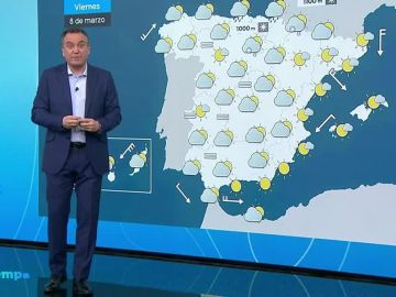 Más nubes y temperaturas en ascenso para este viernes