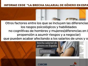 La brecha salarial entre hombres y mujeres se reduce en España, según la CEOE